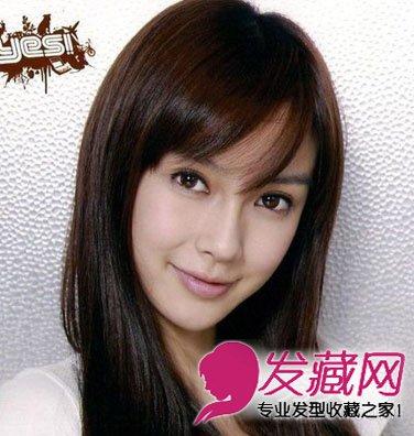 圆脸女生必看 长直发的韩式发型(6)图片