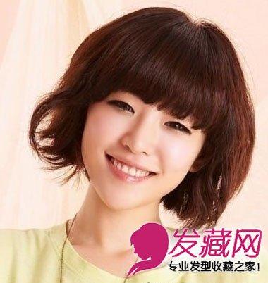 【图】圆脸发型设计厚实感的短发发型(5)_圆脸适合_发