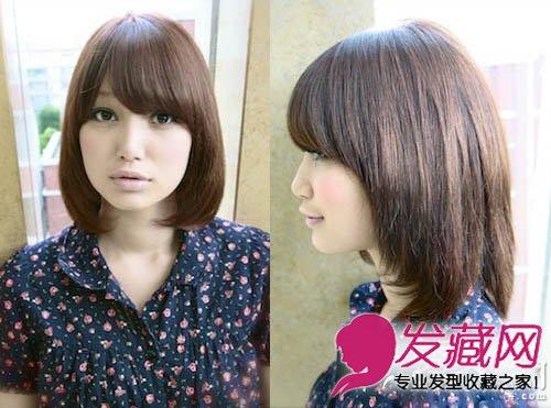女生娃娃脸短发 甜美时尚的女生短碎发发型(3)图片
