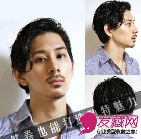 【图】自然卷男士短发发型