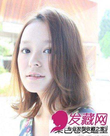 空气感齐刘海发型 你需要一款漂亮的卷发 →无刘海中长卷发知性有