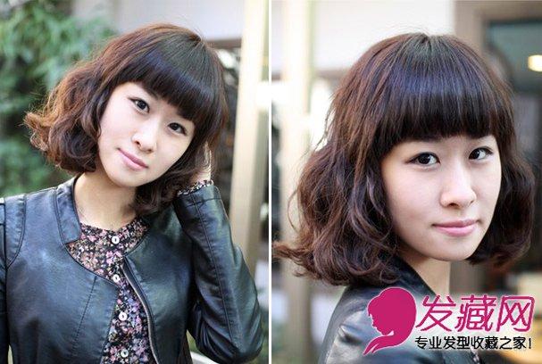 2015秋冬流行发型 韩式短发蛋卷头可爱(2)