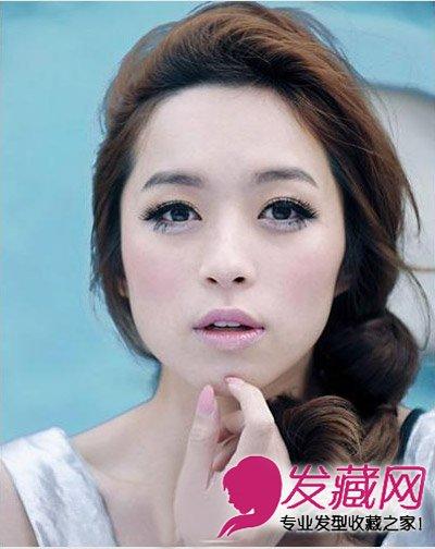 高高盘起的刘海发型 再现清新可爱少女风(2)图片