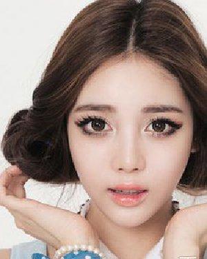 韩式校园学生发型 中分盘发造型图片