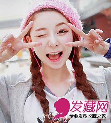 【图】韩系女学生高马尾辫发型图片