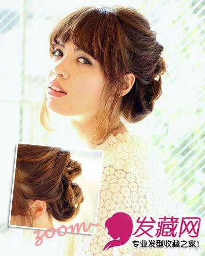 导读:style 2 中长发 编发 盘发 将头发盘起是淑女范女生必备 发型图片
