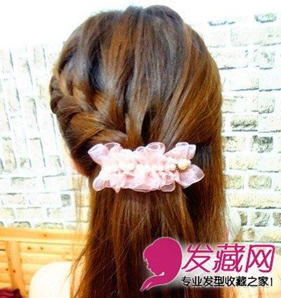 韩式女生长发diy 一发多扎编发变盘发(4)图片