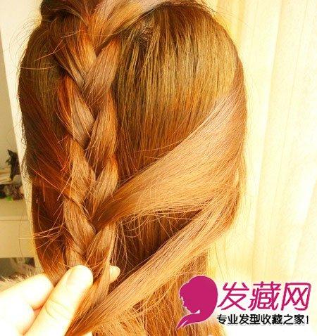韩式辫子发型diy 简单步骤编出最炫发型(6)