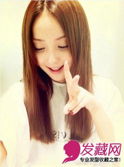 娃娃脸短发中分的长发发型设计10款中女生塑齐刘海能换成什么刘海图片