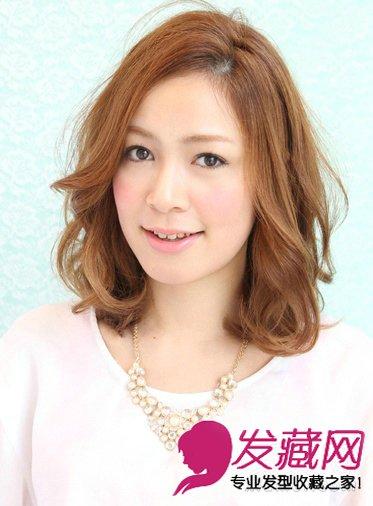 圆脸适合什么发型 齐刘海蓬松梨花头(7)
