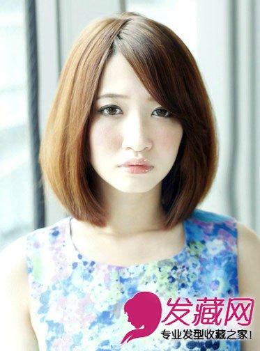 大脸妹适合发型 清新梨花头快速瘦脸(4)图片