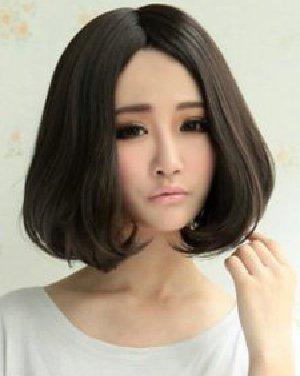 刘海/2014女生短发流行趋势 中分短发发型