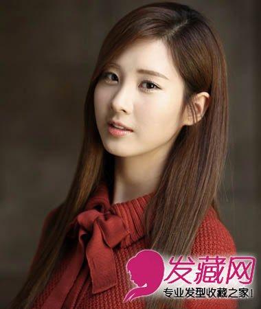 校园女生发型 齐刘海长直发发型(5)