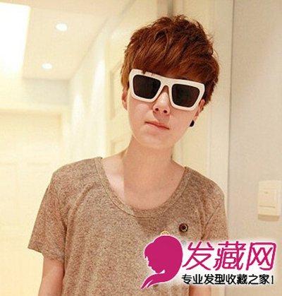 韩式男生烫发发型 棕色系染发个性时尚图片