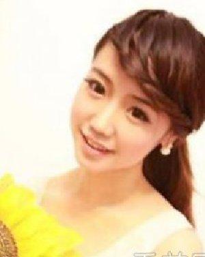 女生气质编发发型图片 露额刘海