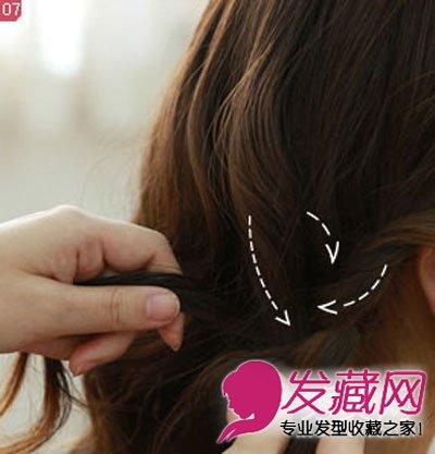 长刘海优雅低发髻花苞头发型 花环编发气质时尚(7)