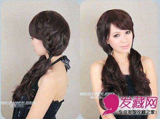 给人甜美可爱气质哦,那么设计一款韩式的瘦脸编发发型呢?