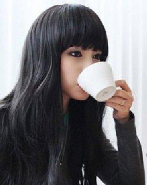 黑色的平刘海梨花头 最适合圆脸的发型推荐(3)图片