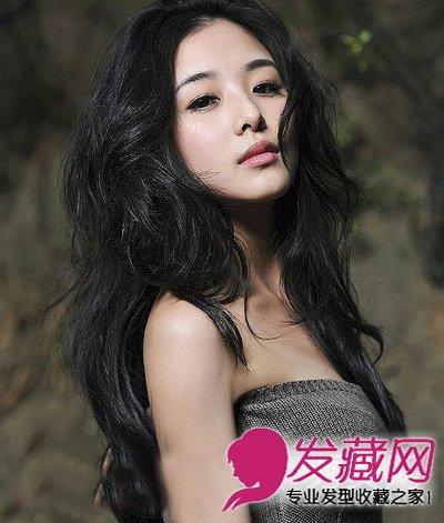 圆脸适合长卷发发型 长卷发发型(7)图片