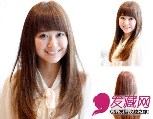 内扣离子烫刘海发型 刘海中长发修颜减龄(6)