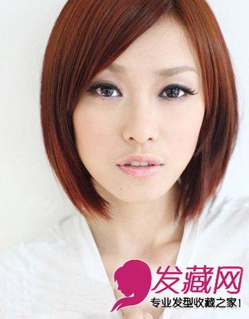 国字脸女生发型设计 短发显瘦塑v脸(4)