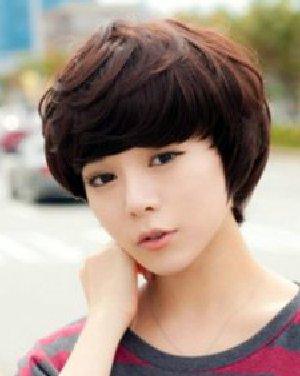 刘海来取长补短 菱形脸适合什么发型(7)图片