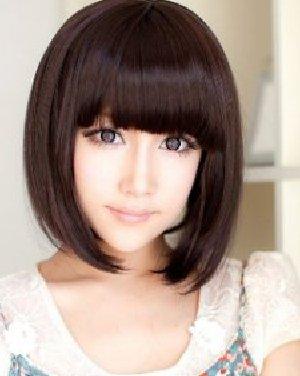 齐刘海短发发型 刘海修颜巧搭塑小脸