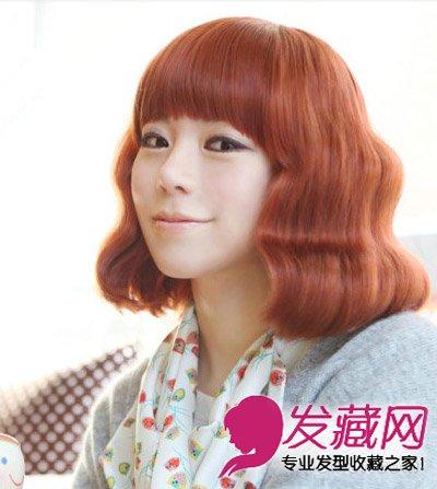 菱形脸女生发型设计 清新梨花头修颜显瘦(6)