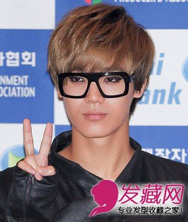 韩式型男短烫发发型图片 自然有型的韩式男士烫发(8)图片