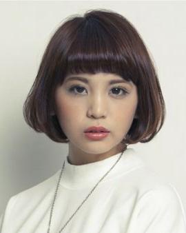 女生 短发 蘑菇/女生个性短发蘑菇头冬季瘦脸必备