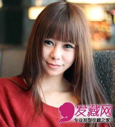 韩式女生刘海发型 可爱修颜最显瘦(2)图片