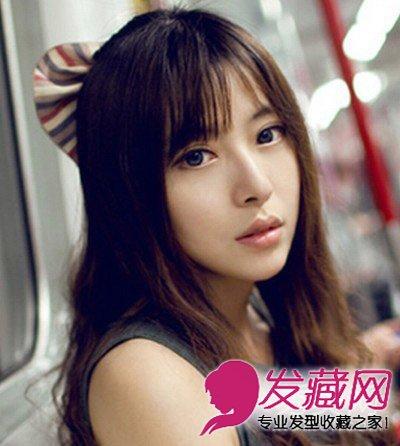 韩式女生刘海发型 可爱修颜最显瘦(7)