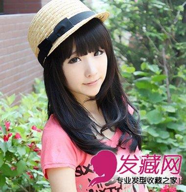 搭配帽子清新可爱,展现女生娇俏甜美的气质.