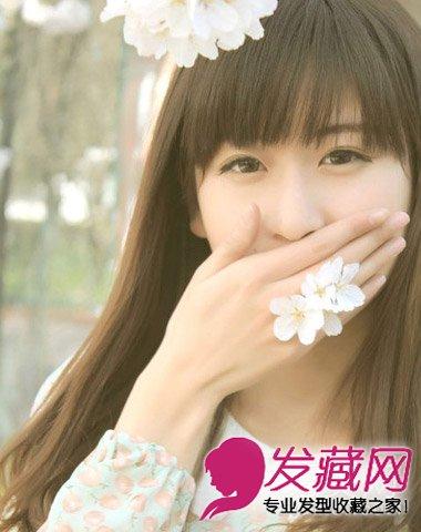 圆脸适合发型推荐 齐刘海发型富有可爱气息(3)