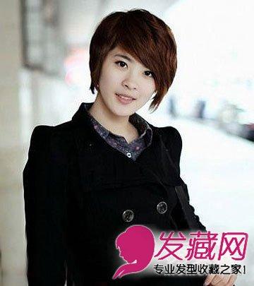 斜刘海短发发型大全 圆脸修颜必备(7)