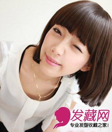 > 日系清新碎短发发型 中短发完美修颜塑脸型(4)  导读:可爱的韩式齐