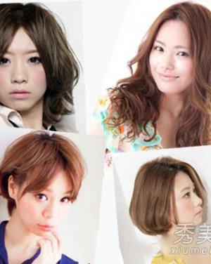 短发、中发、长发的中分造型 改