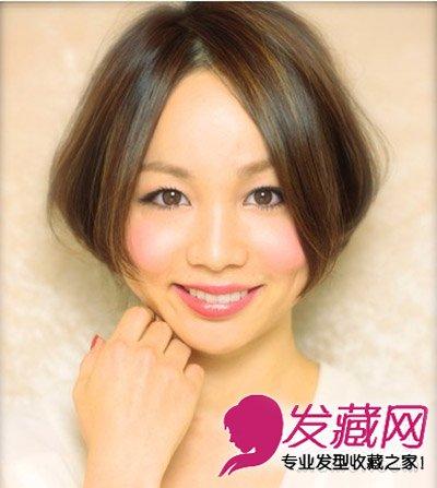 宽脸适合什么发型 蓬松短发发型图片(6)图片