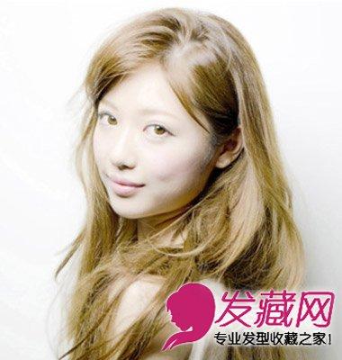 圆脸女生适合的发型图片 巧用刘海修颜塑v脸(2)