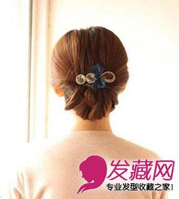 简单的韩式盘发发型 提升小脸魅力指数
