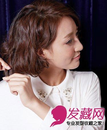 扎好看 温婉恬静的刘海编发发型(3)       将整头头发拉松,制造出蓬松图片