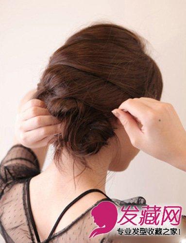 短发梨花头发型图片集锦  导读:step4:把发尾用u型夹收到编好的蜈蚣辫图片
