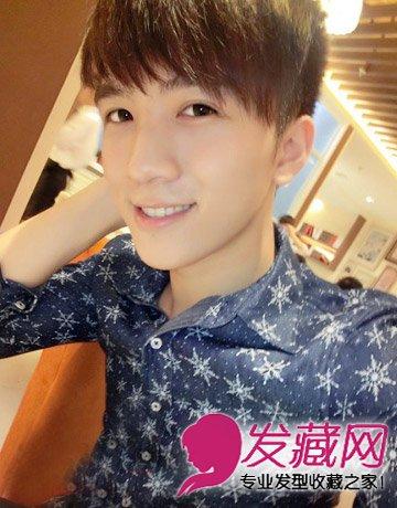 青春帅气男生短发 充满韩式的烫发发型(4)