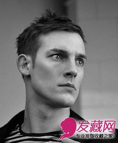 冬季男士发型集锦 简单的男士齐刘海发型 →8款男生短发烫发发型图片
