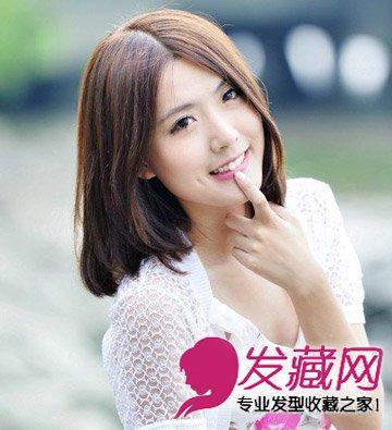 披肩的长发发型大全 清纯发型变氧气美女(3)