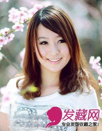 2015流行发型图片 齐肩发浪漫清新(8)