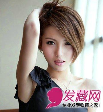 偏分的长斜刘海短发发型最适合干练的职场ol打造