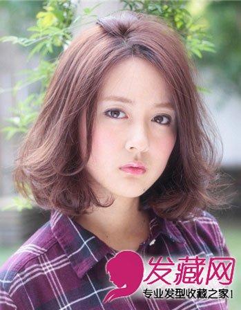 2015最新女生发型 中发的斜刘海发型(3)图片