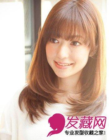 齐刘海发型图片 适合大脸长脸女生