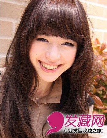 齐刘海发型图片 适合大脸长脸女生(5)